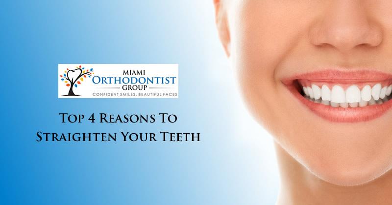 Top 4 Reasons to Straighten Your Teeth